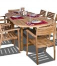 Amazonia Oval Coventry Teak Dining Set