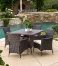 Clementine Multibrown Wicker Dining Set