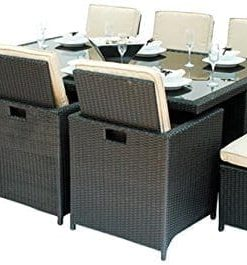 Montiki 13PC Cube Wicker Dining Set