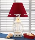 Red Shape Glass Caged Nautical Lamp