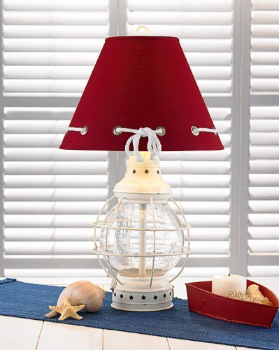6-red-shape-glass-caged-nautical-lamp Nautical Themed Lamps