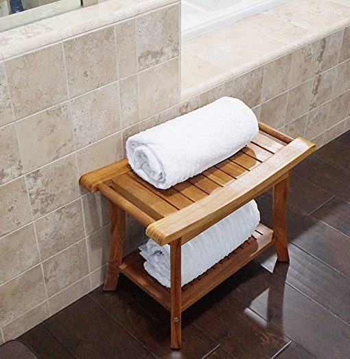 "Welland 19.5"" Teak Shower Bench With Handles"