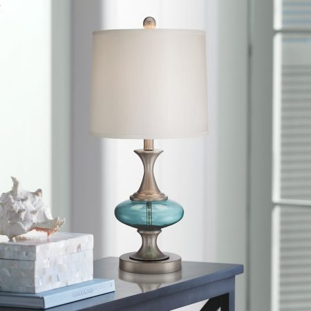 6b-reiner-blue-glass-and-steel-table-lamp-450x450 100+ Coastal Themed Lamps