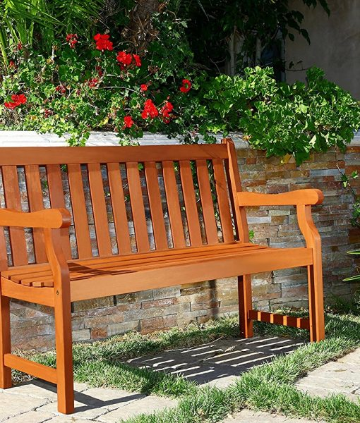 Vifah Outdoor Two Person Henly Bench