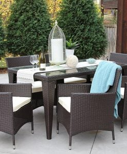 7 All Weather Outdoor Wicker Dining Set 247x300 Best ... Part 60