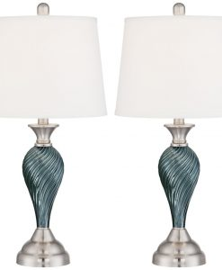 7-arden-dark-blue-green-twist-column-table-lamp-247x300 The Best Beach Themed Lamps You Can Buy