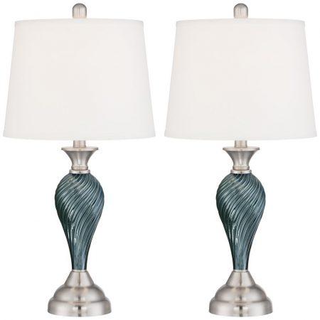 7-arden-dark-blue-green-twist-column-table-lamp-450x450 100+ Coastal Themed Lamps