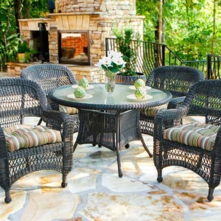 7-dark-roast-5pc-resin-wicker-dining-set-450x450 Best Outdoor Wicker Patio Furniture