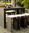 Merax High Top Barstool Wicker Dining Set