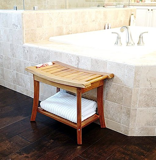 "Welland 24"" Teak Shower Bench With Handles"