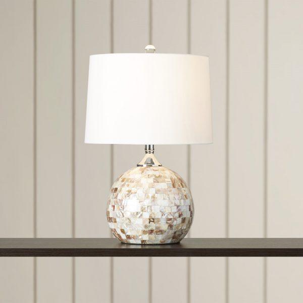 Beachcrest Home Ocala Shell Table Lamp