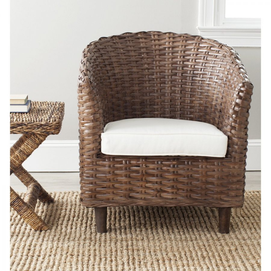 Wicker barrel chair
