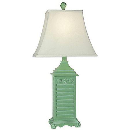 8-coastal-green-shutter-table-lamp-450x450 100+ Coastal Themed Lamps