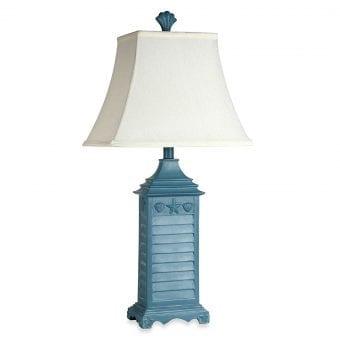 Coastal Shutter Seashell Table Lamp