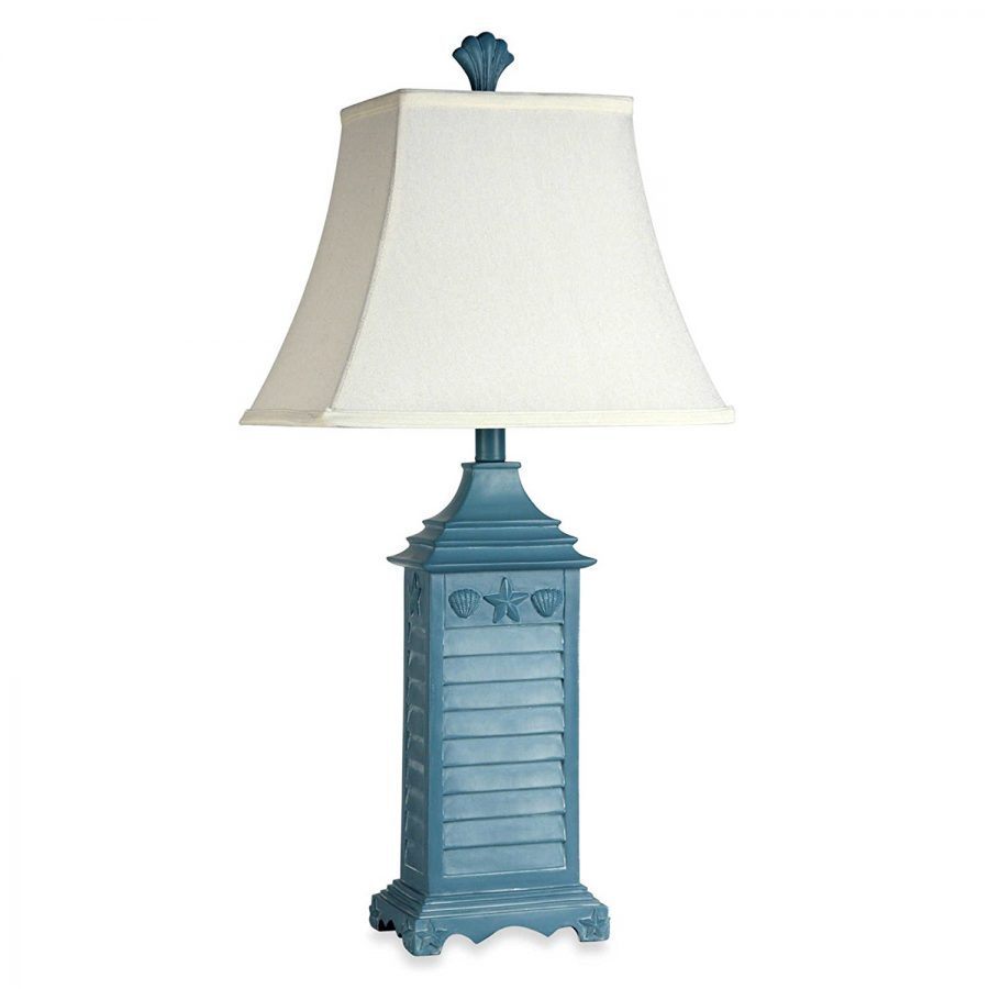 pin crestview lamp table collection shutter white