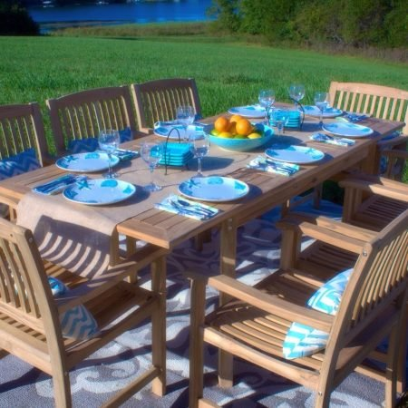 8-grade-a-teak-wood-patio-dining-table-set-450x450 The Ultimate Guide to Outdoor Teak Furniture