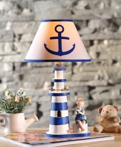 8-nautical-anchor-lighthouse-table-lamp-247x300 The Best Lighthouse Lamps You Can Buy