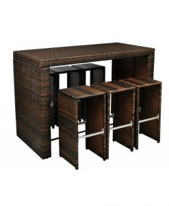 8-poly-rattan-garden-hightop-barstool-wicker-dining-set-247x300 The Best Wicker Dining Sets You Can Buy