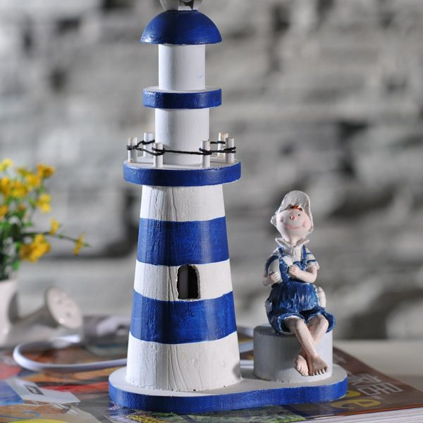 Nautical Anchor Lighthouse Table Lamp