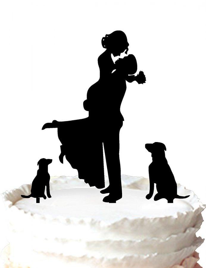 Dog Lovers Wedding Cake Topper