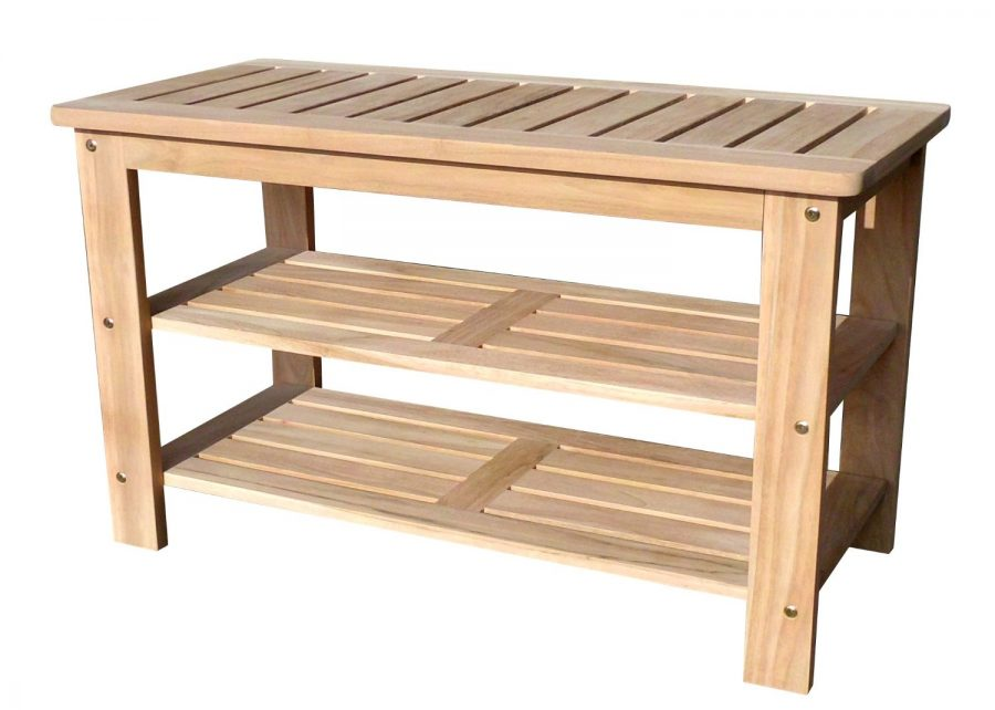 D-Art Collection Outdoor Teak Shoe Bench