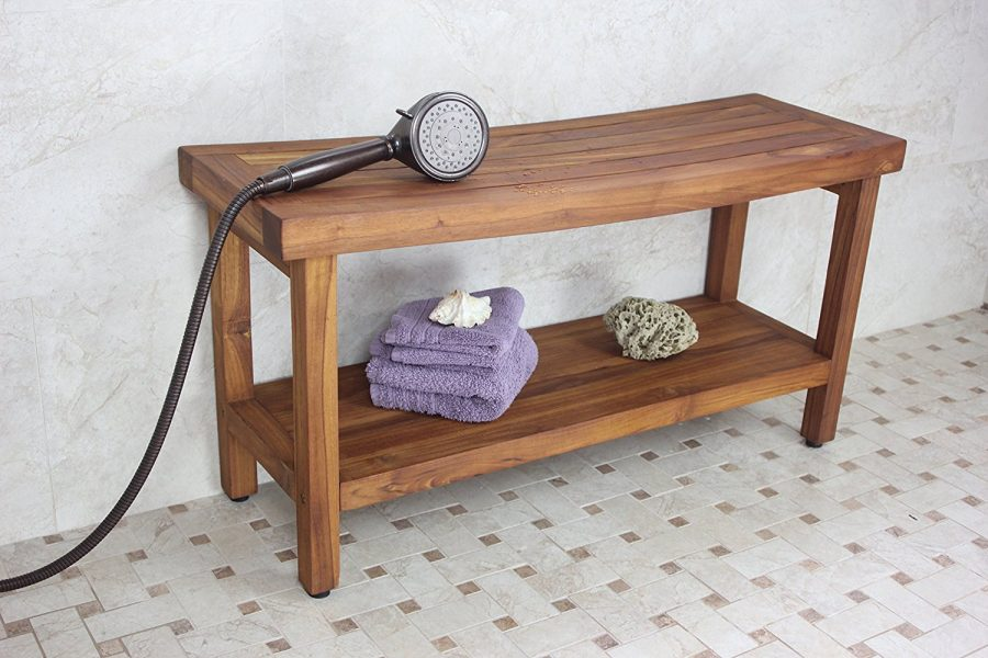 Original Sumba 36 Teak Shower Bench