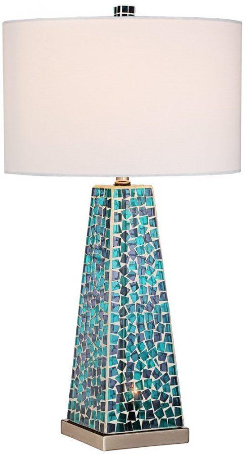 Possini Lorin Blue Mosaic Coastal Lamp