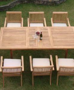 9-rectangle-9pc-grade-a-teak-dining-set-247x300 51 Teak Outdoor Furniture Ideas