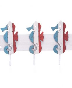 Red, White, and Blue Seahorse Hanging Hooks