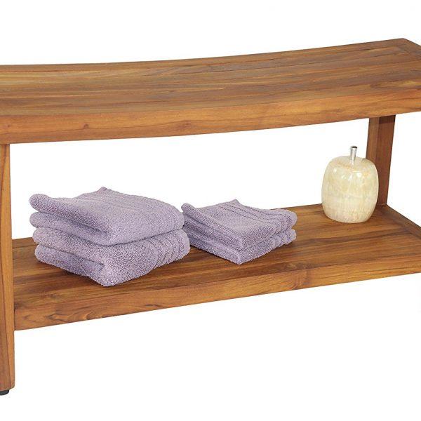 "Original Sumba 36"" Teak Shower Bench"