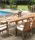 Rectangle 9-PC Grade-A Teak Dining Set