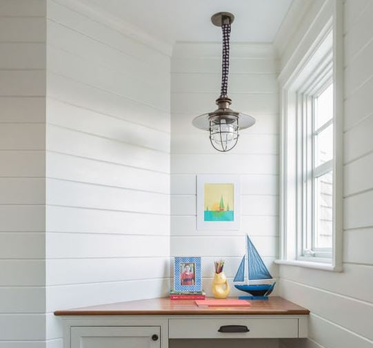Beach-Style-Kids-Desk 101 Indoor Nautical Style Lighting Ideas