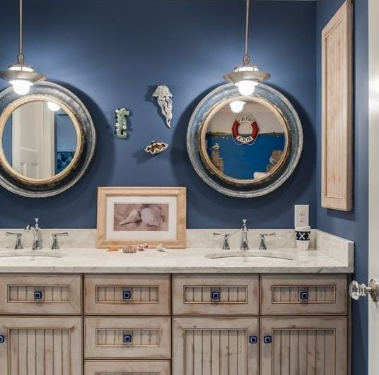 Beautiful-By-The-Sea-by-Town-and-Country-Kitchen-and-Bath 101 Indoor Nautical Style Lighting Ideas