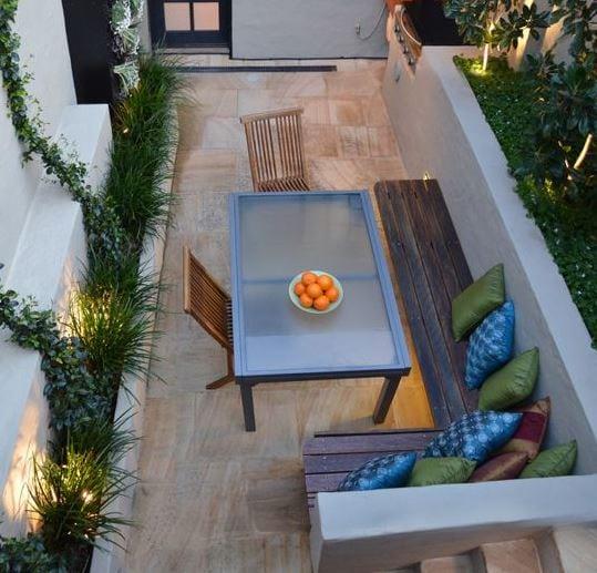 Birchgrove-Tiny-Courtyard-by-Outhouse-Design 51 Teak Outdoor Furniture Ideas