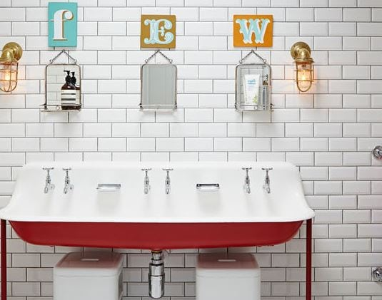 Eclectic-Bathroom-by-Godrich-Interiors 101 Indoor Nautical Style Lighting Ideas