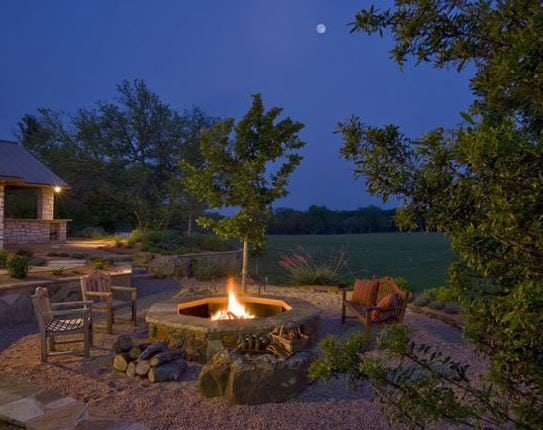 Fire-Pit-by-Rick-ODonnell-Architect 51 Teak Outdoor Furniture Ideas
