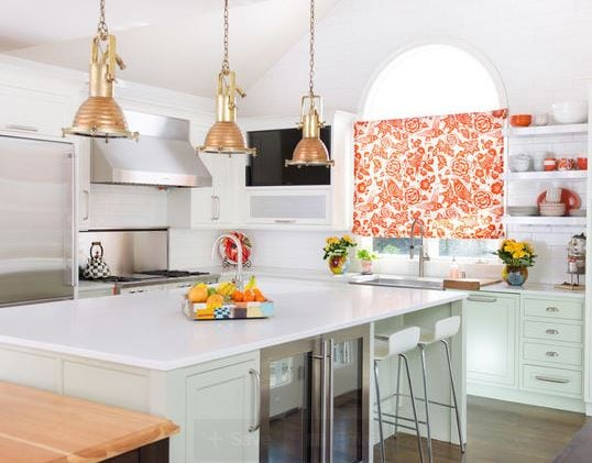 Leawood-KS-Colorful-Kitchen-by-Kitchen-Studio-Kansas-City 101 Indoor Nautical Style Lighting Ideas