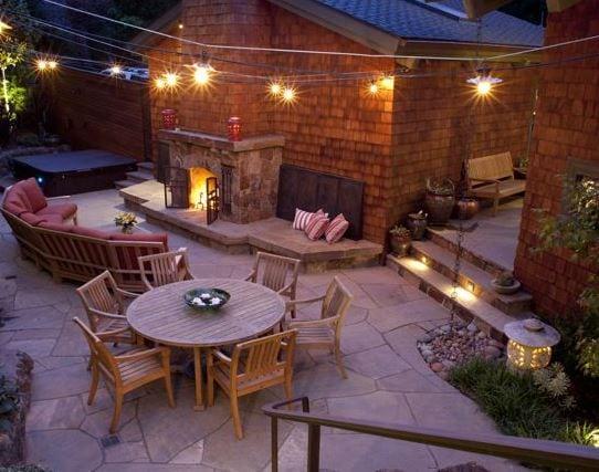 Mill-Valley-Residence-by-Pedersen-Associates 51 Teak Outdoor Furniture Ideas