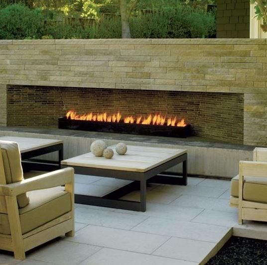 Modern-Outdoor-Fireplace-by-California-Home-Design 51 Teak Outdoor Furniture Ideas