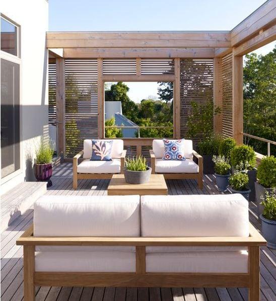 Modern-Summer-House-by-Austin-Patterson-Disston-Architects 51 Teak Outdoor Furniture Ideas