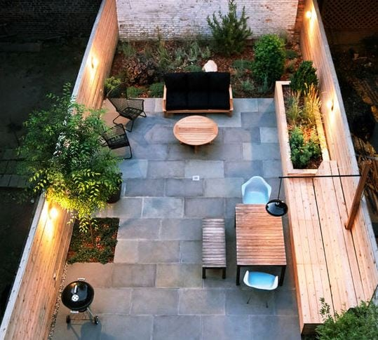 Modern-in-Bed-Stuy-by-New-Eco-Landscapes 51 Teak Outdoor Furniture Ideas