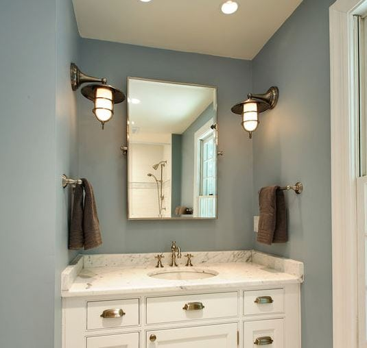 Nautical-Bathroom-by-Olga-Adler 101 Indoor Nautical Style Lighting Ideas