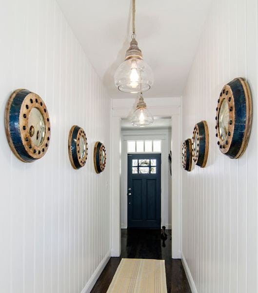 Nautical-Hallway-Lighting-by-DrakeFrye-Home 101 Indoor Nautical Style Lighting Ideas