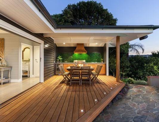 Pool-House-by-Acorn-Garden-Houses 51 Teak Outdoor Furniture Ideas