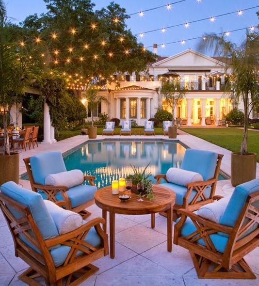 Pool-Seating-by-LGB-Interiors 51 Teak Outdoor Furniture Ideas