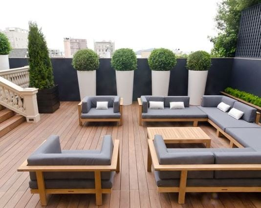 Terrace-by-Sean-Weatherill-by-Alex-Amend-Photography 51 Teak Outdoor Furniture Ideas