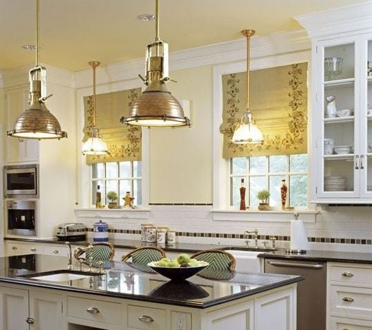 Traditional-Kitchen-by-Felhandler-Steeneken-Architects 101 Indoor Nautical Style Lighting Ideas