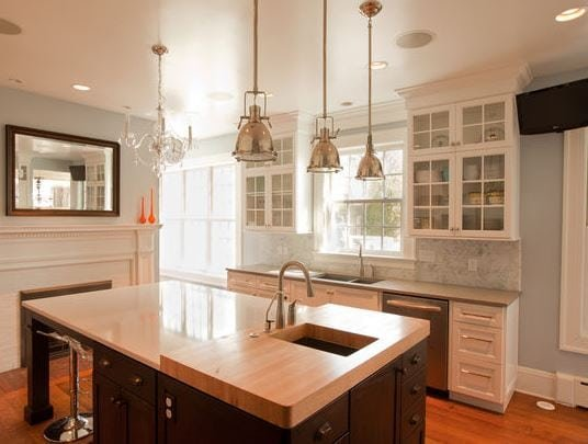 Transitional-Glam-Kitchen-by-Normandy-Remodeling 101 Indoor Nautical Style Lighting Ideas
