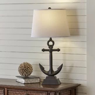 anchor-lamp 101 Indoor Nautical Style Lighting Ideas