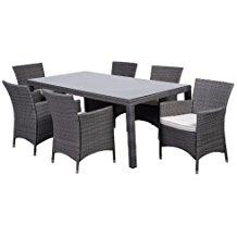 atlantic-7-piece-gray-wicker-dining-set Wicker Patio Dining Sets